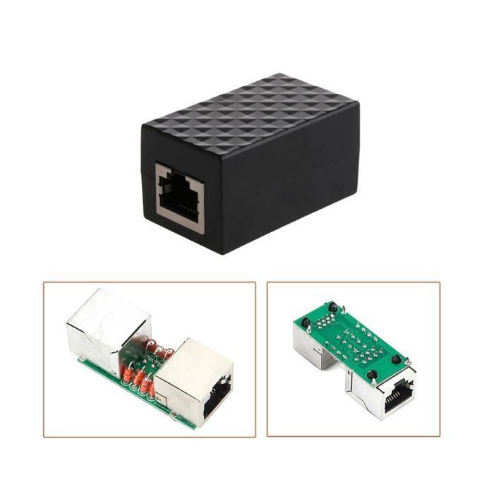 LAN Ethernet RJ45 Protection Adaptateur réseau Parafoudre périphérique parasurtenseur FQQ80925108