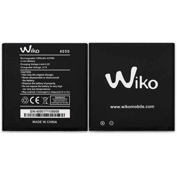 Pour WIKO 4050 Batterie de téléphone portable 1300mAh Batterie Haute Capacité Batteries