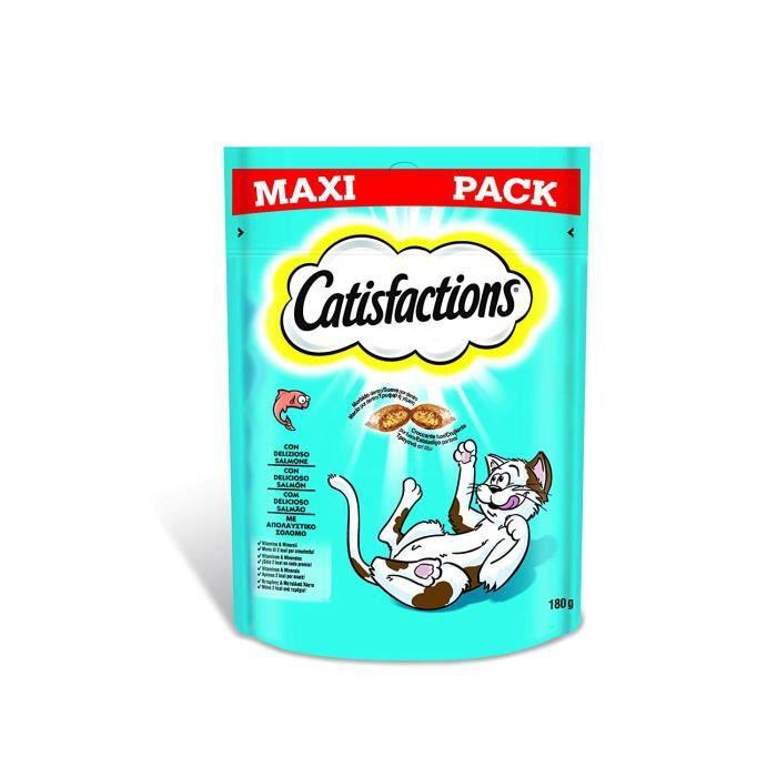 CATISFACTIONS MAXI - Friandises au Saumon pour Chat et Chaton, 4 Sachets de 180g