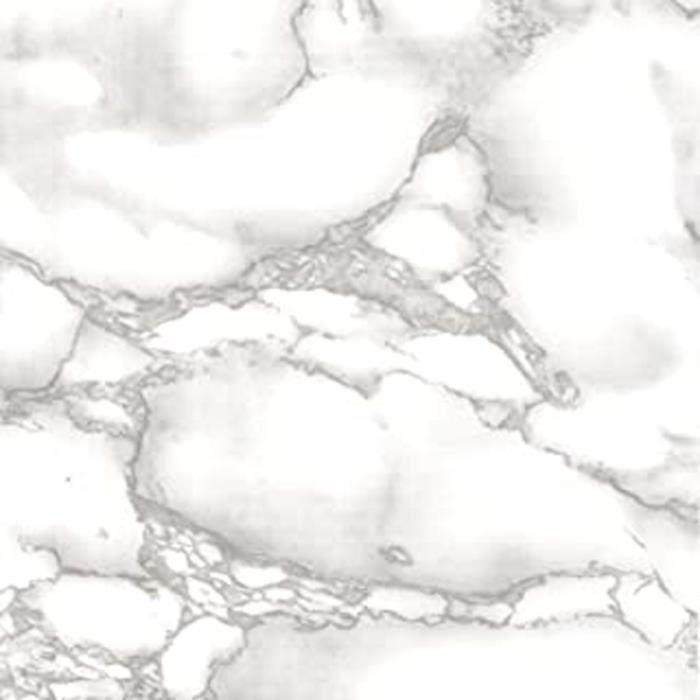 Film Adhésif Décoratif Pour Meuble Effet Matière Marbres Gris 45 X 200 Cm, Imperméable Pvc, Sans Phtalates, 53357
