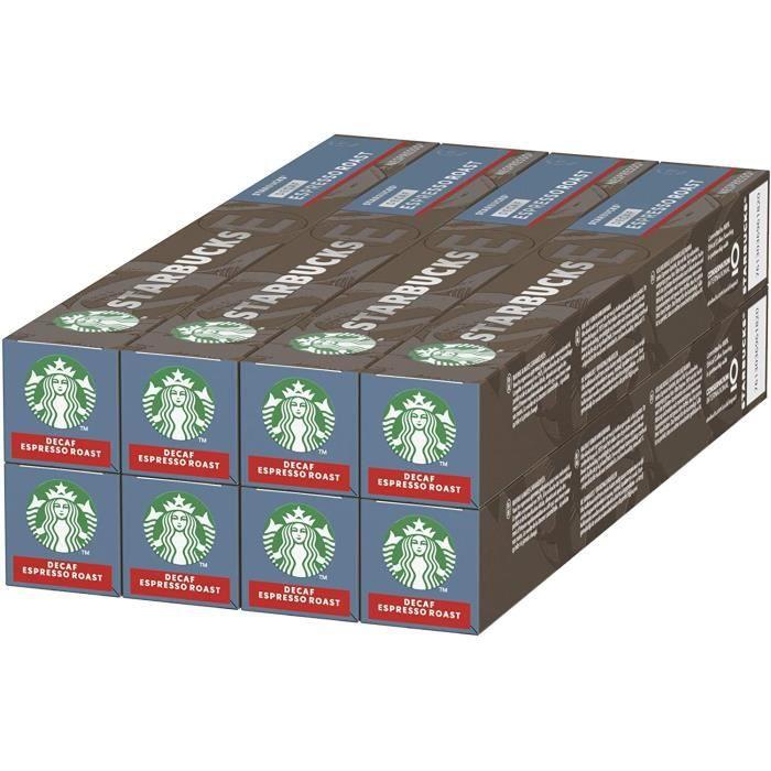 Decaf Espresso Roast By Nespresso Dark Roast Coffee Capsules, 80 Capsules (8 x 10)