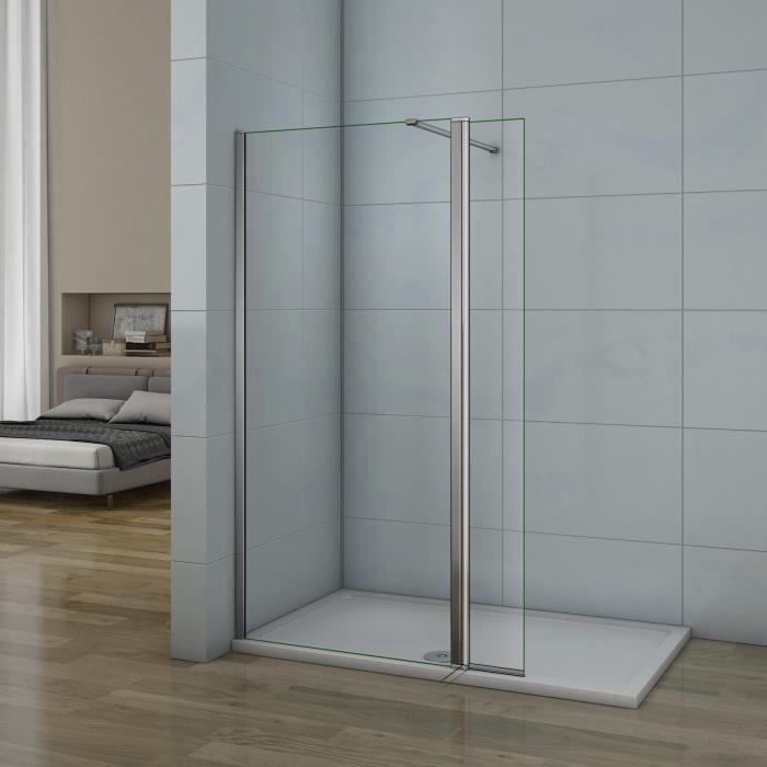 Paroi de douche avec volet pivotant 60+40x200cm modèle d' Itaroi avec une barre 90cm