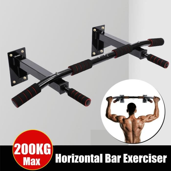 Barres de Traction Murale Barre de Fitness Fixation plafond Exercices Pull Up Bar