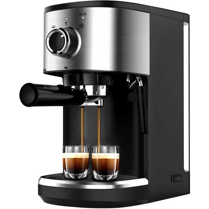 CAFETIERE Bonsenkitchen Machine &agrave Expresso, Machine &agrave Caf&eacute en Acier Inoxydable Haute Puissance, 1450 W, 15 117