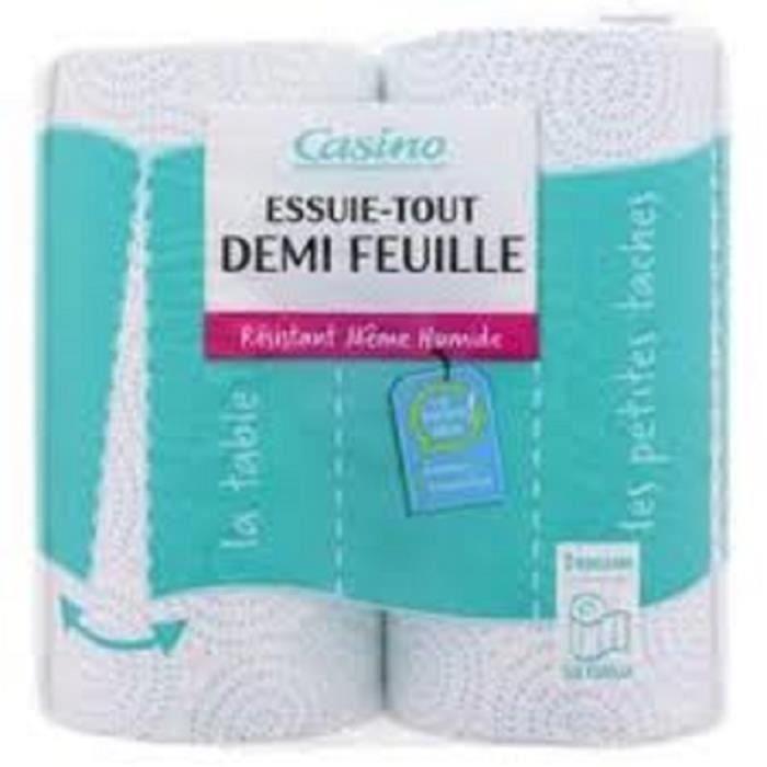 CASINO AVENIR Papier Toilette 1/2 Feuille x2 (Lot de 3)