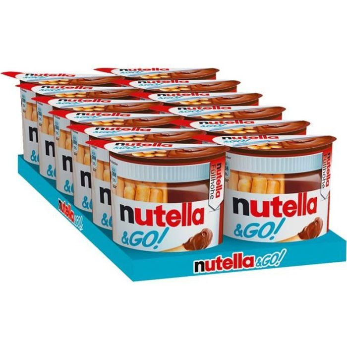 Ferrero Nutella & Go, snack, 12 pièces