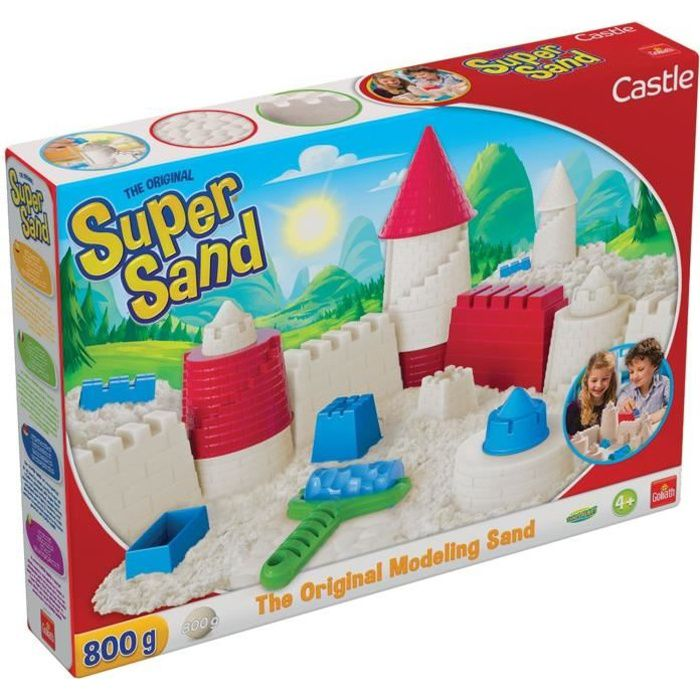 SUPER SAND Castle - Loisir créatif - Sable à modeler - Be Creative - GOLIATH