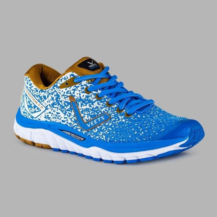 Chaussures Running VEETS Homme Transition 2.0 Bleu / Marron / Blanc PE 2018