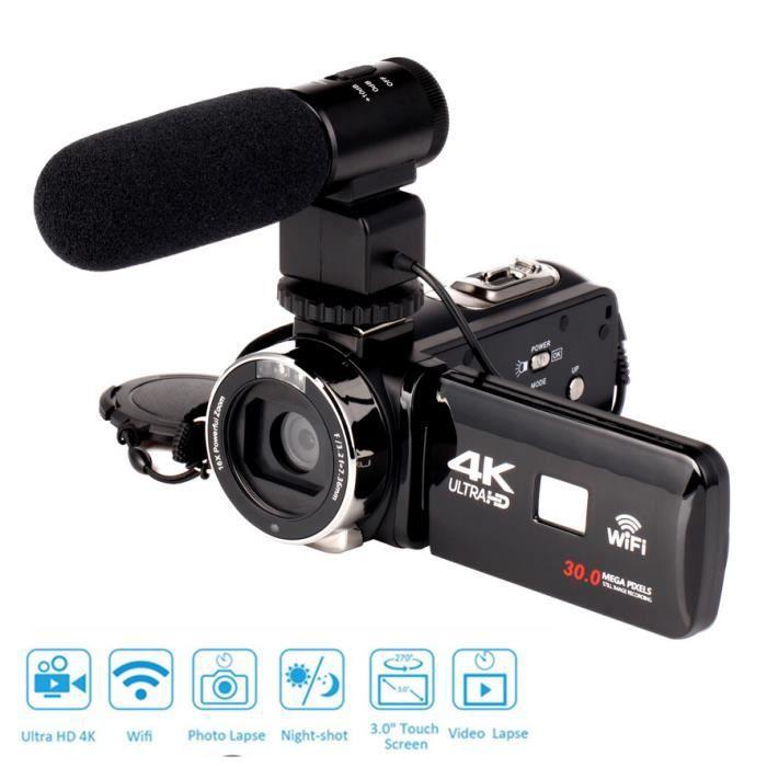 1080P CMOS 4K WiFi Ultra HD 12 millions de pixels capteur numérique caméra vidéo caméscope DV caméscope DV lentille Microphone