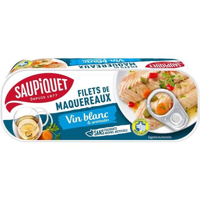 Maquereaux vin blanc 176 g Saupiquet