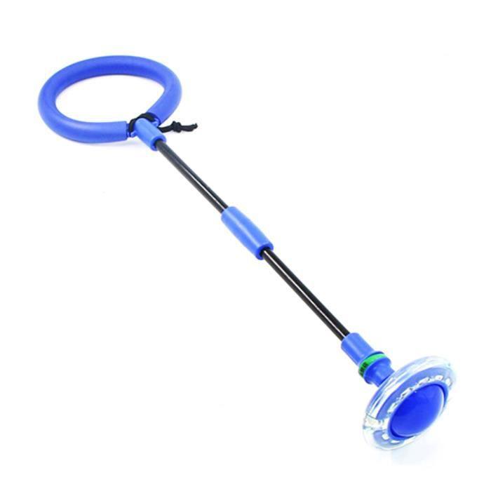 SURENHAP Corde à Sauter Boule de saut pliable pour enfants Anneau de saut de cheville Jouet coloré Flash pour enfants et adultes Ble
