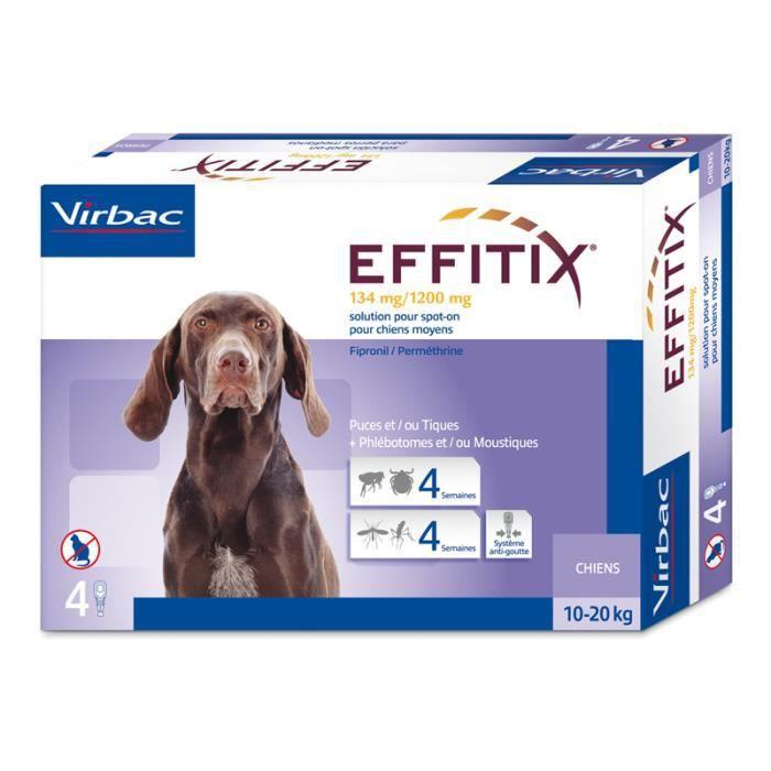 Virbac - Effitix chien moyen (10 à 20 kg) Unique