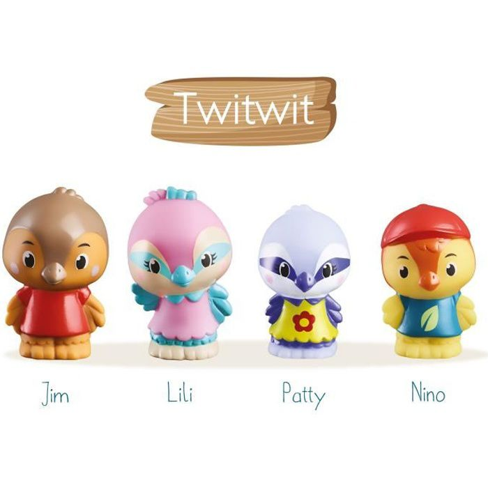 KLOROFIL Lot de 4 personnages famille Twitwit