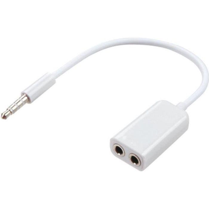 SODIAL R 30cm 5.5x2.1mm 1 femelle a 2 prises male Prise dalimentation CC Cable diviseur de camera CCTV
