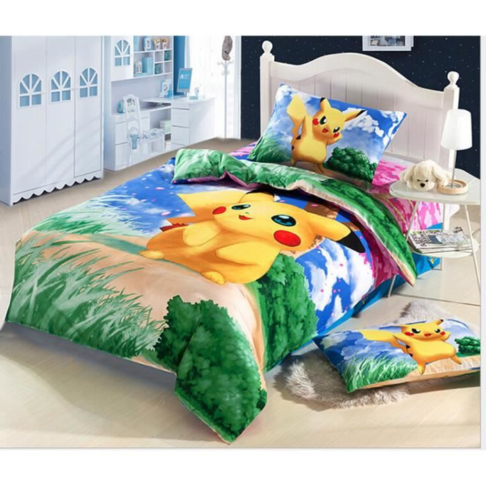 pokemon parure de lit 2 personnes housse de couette. Black Bedroom Furniture Sets. Home Design Ideas