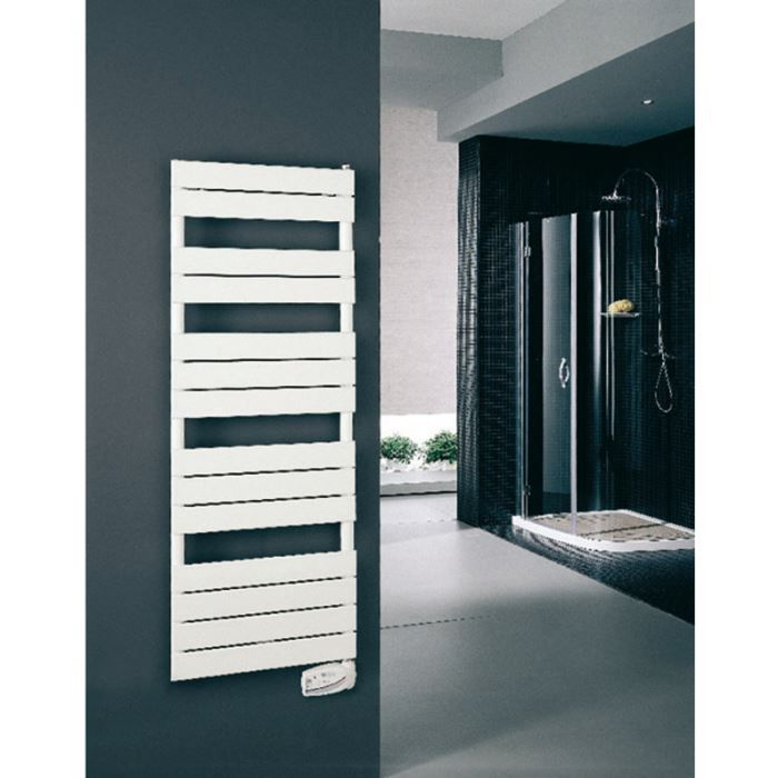 radiateur s che serviettes lectrique plat bl achat. Black Bedroom Furniture Sets. Home Design Ideas