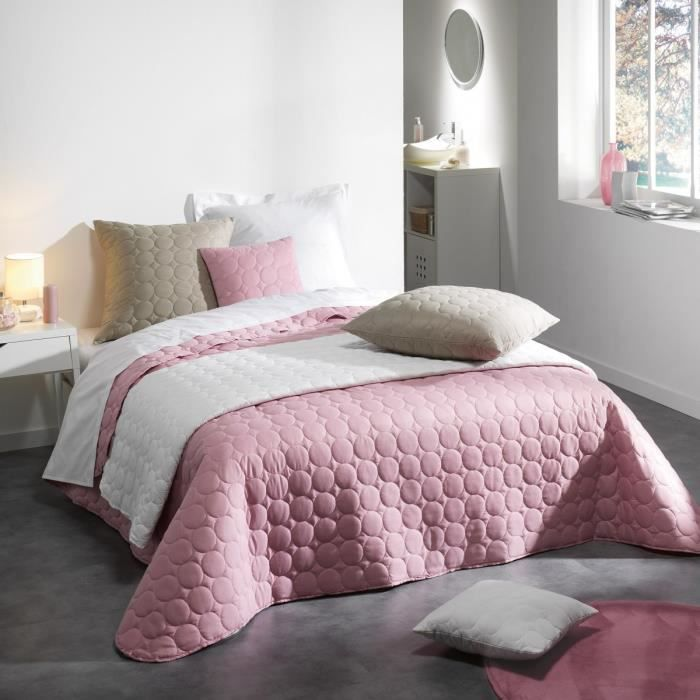 couvre lit matelass 220x240 cm candy rose drag e achat vente jet e de lit boutis cdiscount. Black Bedroom Furniture Sets. Home Design Ideas