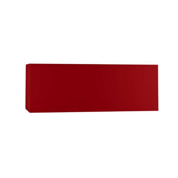 Meuble tv mural horizontal down m rouge achat vente for Meuble mural rouge