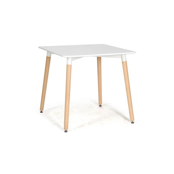 Table blanche carree conceptions de maison for Table a manger carree blanche