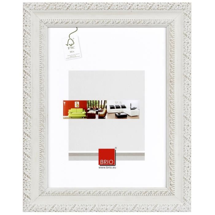 brio cadre photo flanella blanchi 20x30 a4 cm achat vente cadre photo pin cdiscount. Black Bedroom Furniture Sets. Home Design Ideas