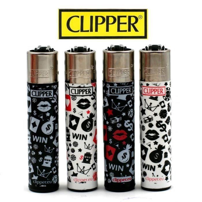Daisies 6 Lot 4 Briquets Clipper rechargeables