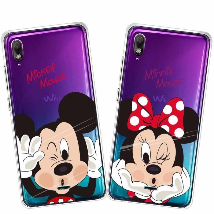 2 X Coque Wiko View 2 Go, Disney Mouse Doux Souple