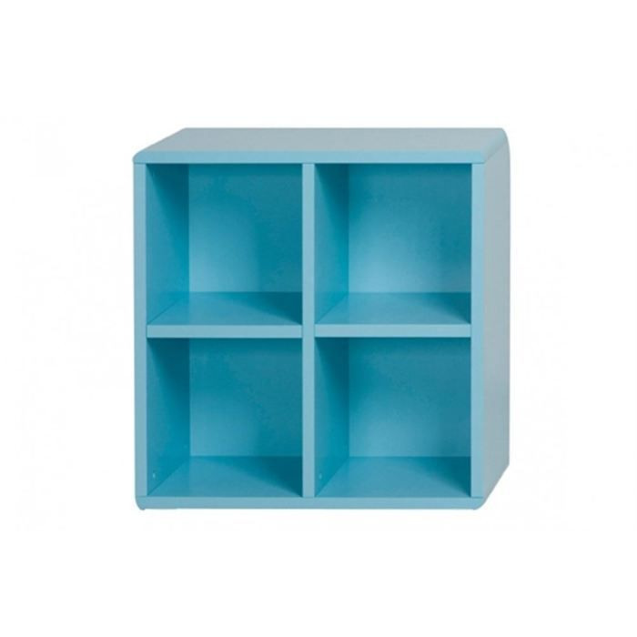 Cube de rangement 4 cases bleu id 39 clik achat vente for Meuble 4 cases but