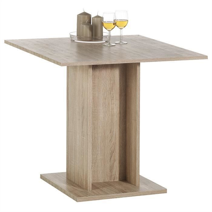 Table de salle manger mdf d cor ch ne sonoma achat for Table a manger 2 personnes