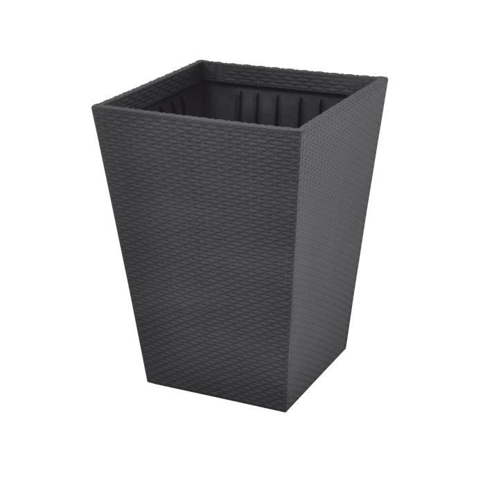 rattan style planter pot grand format 145 litres r sine tress e achat vente jardini re pot. Black Bedroom Furniture Sets. Home Design Ideas