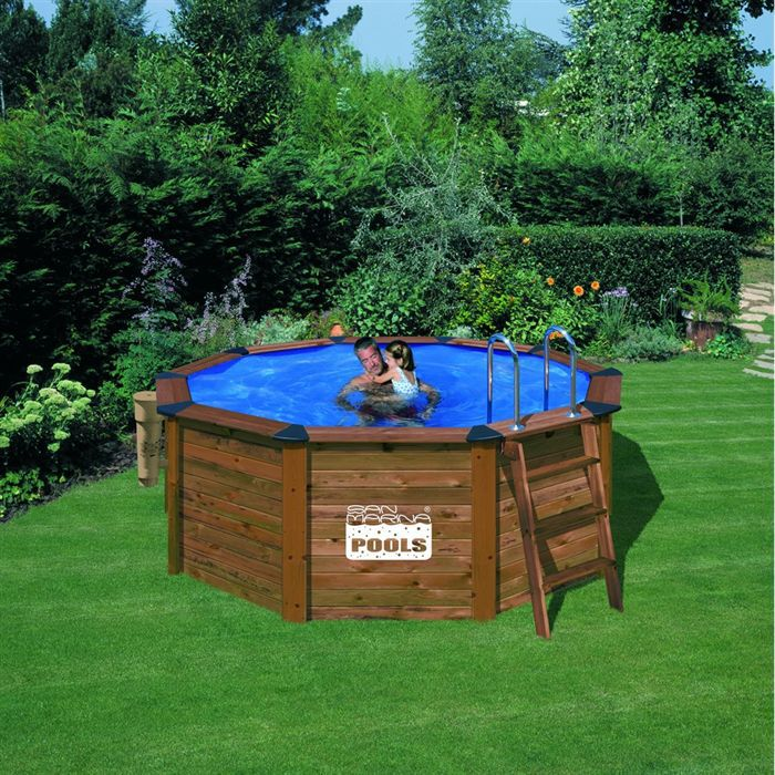 Piscine bois san marina achat vente kit for Destockage piscine bois