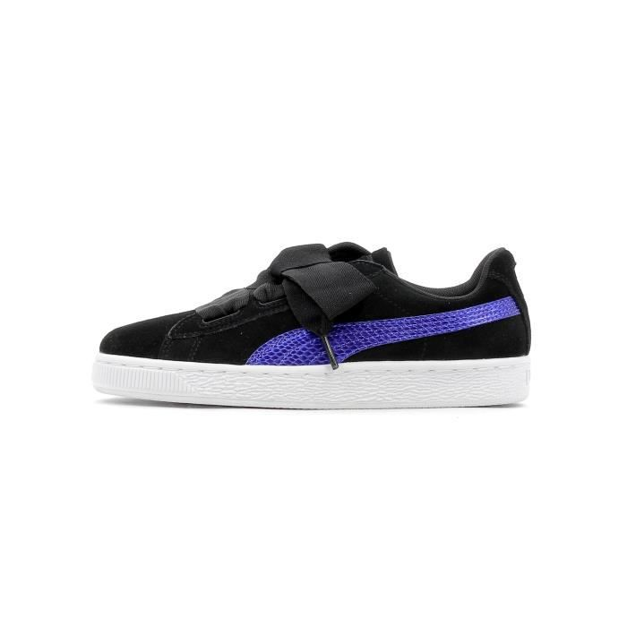 4cd34cbf43f6 Baskets basses Puma Suede Heart snk Junior Noir Noir - Achat / Vente ...