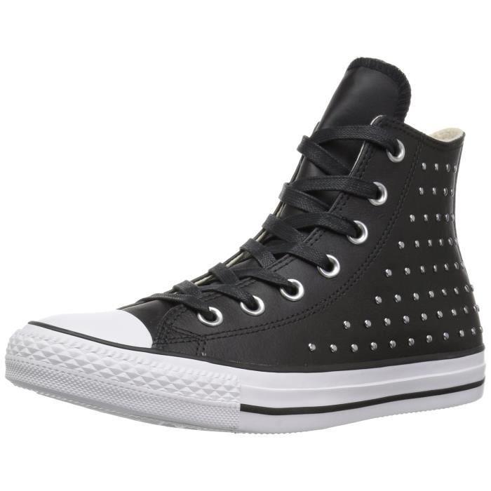 Converse CTAS Femmes Salut Noir - argent Sneaker D1LAU Taille-39