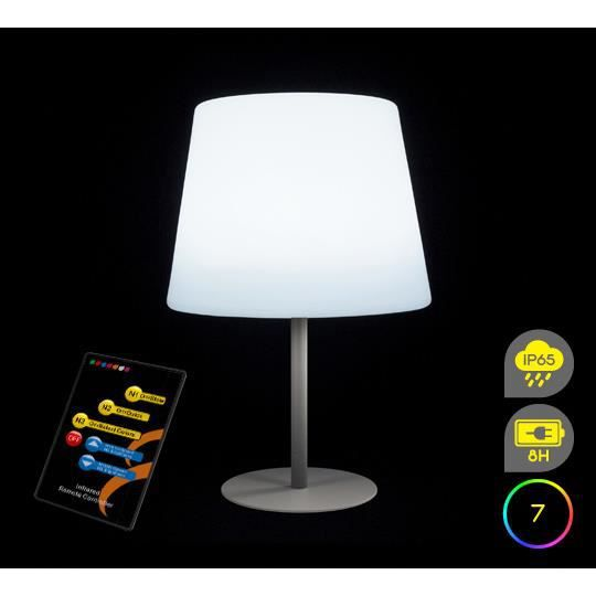 Lampe de table led h58cm sans fil rechargeable achat for Lampe led exterieure