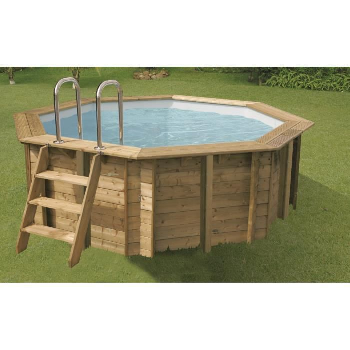 ubbink piscine octogonale en bois sunwater 360xh120 cm liner bleu achat vente piscine. Black Bedroom Furniture Sets. Home Design Ideas