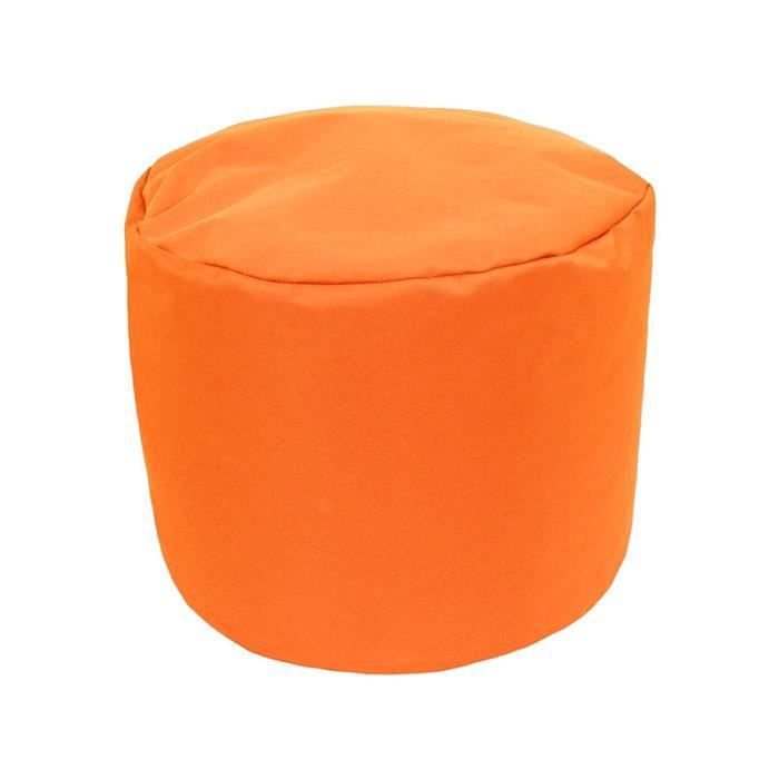 pouf tout rond int rieur ext rieur orange achat vente pouf poire soldes. Black Bedroom Furniture Sets. Home Design Ideas