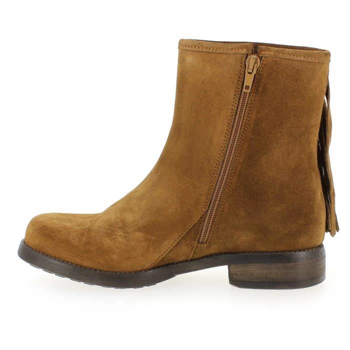 BOTTINES CURTIS PEAU CHAMOIS