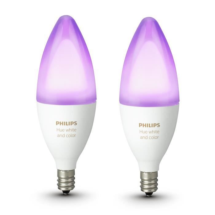 E14 amp;color Flamme Philips 2 De Hue Ampoules White Pack qw78xwH