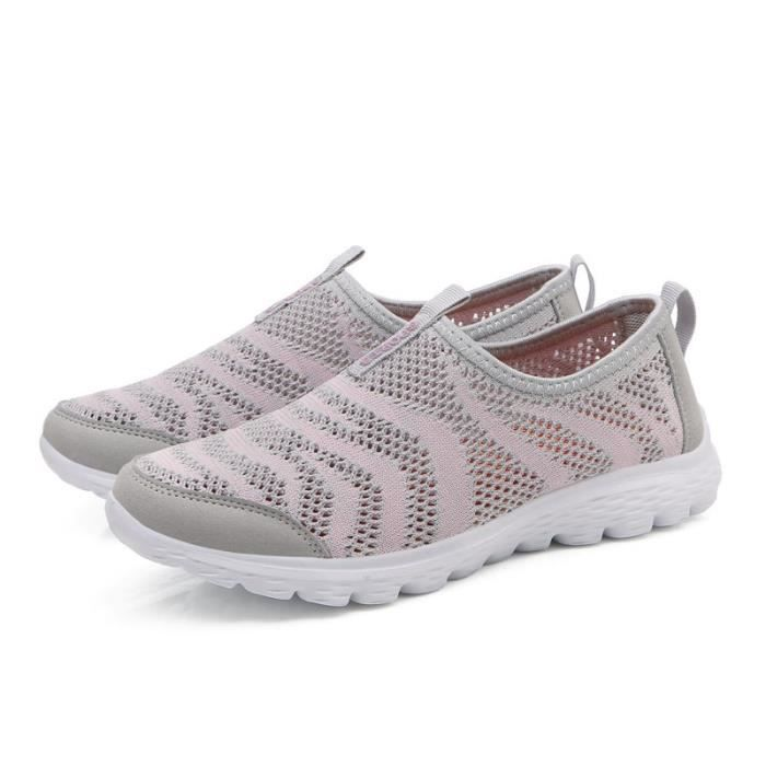 Slip-on simple British Women Chaussures Net Tissu oisif GsRVP