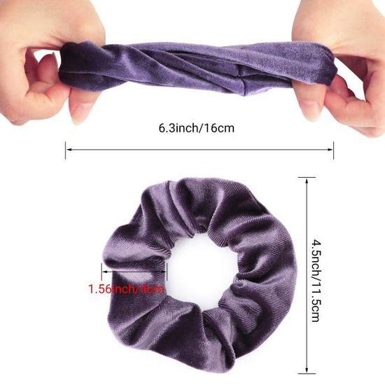 Magnifique Perle et Fleur chouchou-bleu argent violet rouge noir marron