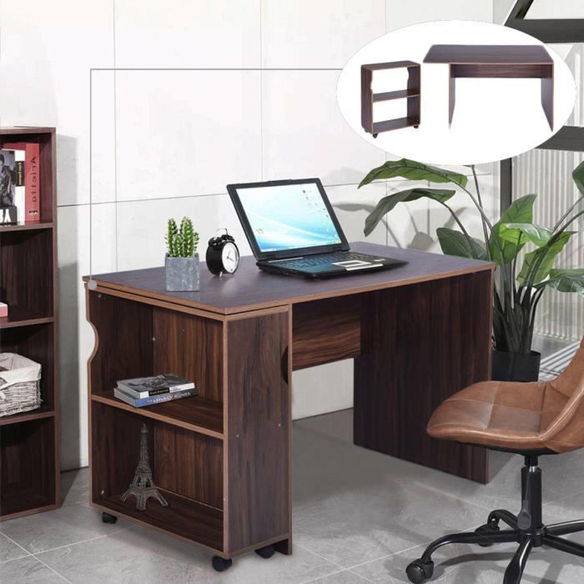 SECRÉTAIRE Bureau informatique meuble de bureau avec 1 rangem