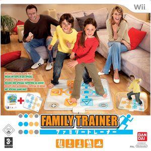 JEU WII FAMILY TRAINER + TAPIS INCLUS / JEU CONSOLE Wii
