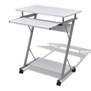 BUREAU  Table de Bureau Bureau informatique avec Roulettes