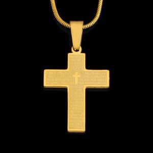 Bellamira Plaqu/é or 18/K Croix Crucifix pendentif avec cha/îne Dor/é Collier Faith Hope inspirants Bijoux dans une bo/îte cadeau vierge Marie Collier