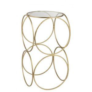 TABLE D'APPOINT Sellette ronde moderne en métal Or Cercle