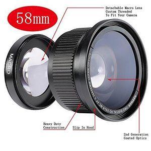 OBJECTIF à Objectif Fisheye 58mm 0.35x Lentille Grand Angle
