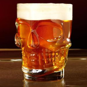 Verre à bière - Cidre Gosear® Chope de bière Verre Tête de mort Géante a