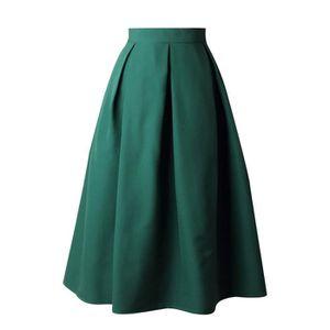 JUPE Femmes Jupe taille haute évasé Jupe plissée Une li