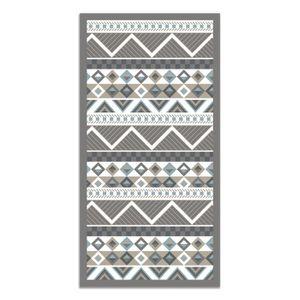 Tapis Adaptable Noir//gris Tapis vinyle hydraulique 120 x 60 cm Tapis pour Enfant Tapis Cuisine Tapis de Salle /à Manger antid/érapant Caoutchouc /éponge et Sol PVC Tapis Chambre