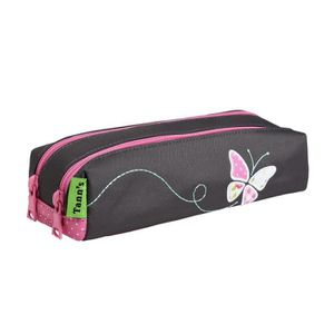 TROUSSE À STYLO Trousse double Collector Girl Butterfly 7 GRIS