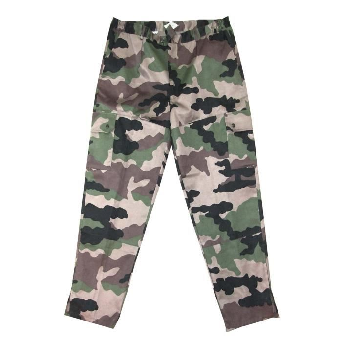 TERRITOIRE CHASSE Pantalon 6 poches - Motif camouflage